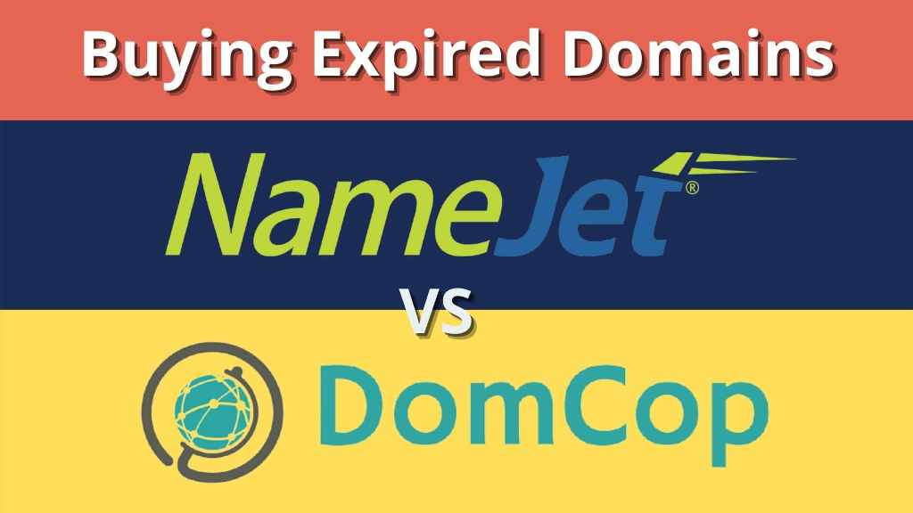 buying expired domains on namejet and domcop