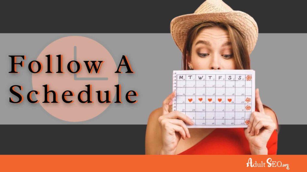 cam girl schedule